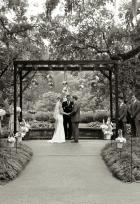 Wedding Under Wood Arbor