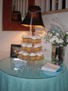 Tiffany Cupcakes With Diamond Rings