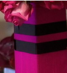 Fabric Covered Container With Ribbon