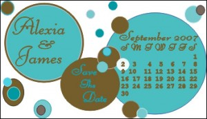 save_the_date_magnet_dot_design_in_aqua_and_brown