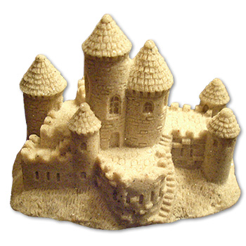 Sandcastle Wedding Cake. sand castle favor