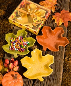 Autumn Magic Collection Leaf Candy Dishes - Favors by Serendipity
