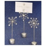 Snowflake placecard holders.