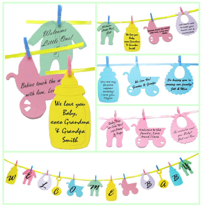 Baby Shower Clothesline Keepsakes